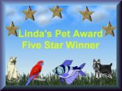 Linda's Pet Award 5 Star Winner
