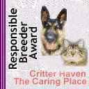 Critter Haven Responsible Breeder Award